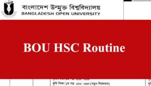 BOU HSC Routine 2021