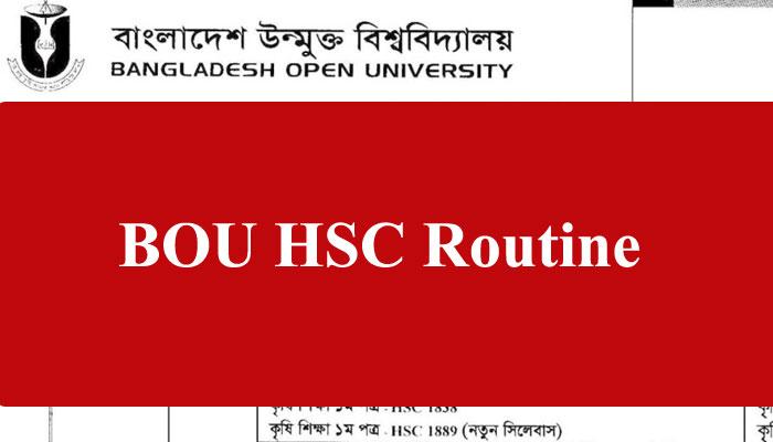 BOU HSC Routine 2021 Image – Open University
