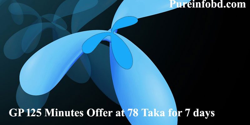 GP 125 Minutes Offer at 78 Taka for 7 days