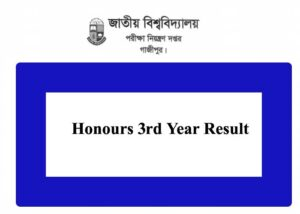 Honours 3rd Year Result 2021