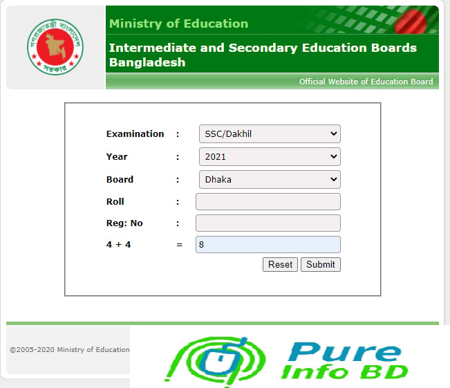 SSC Result 2021 Dhaka Board
