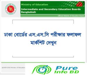SSC Result 2021 Dhaka Board Marks Download