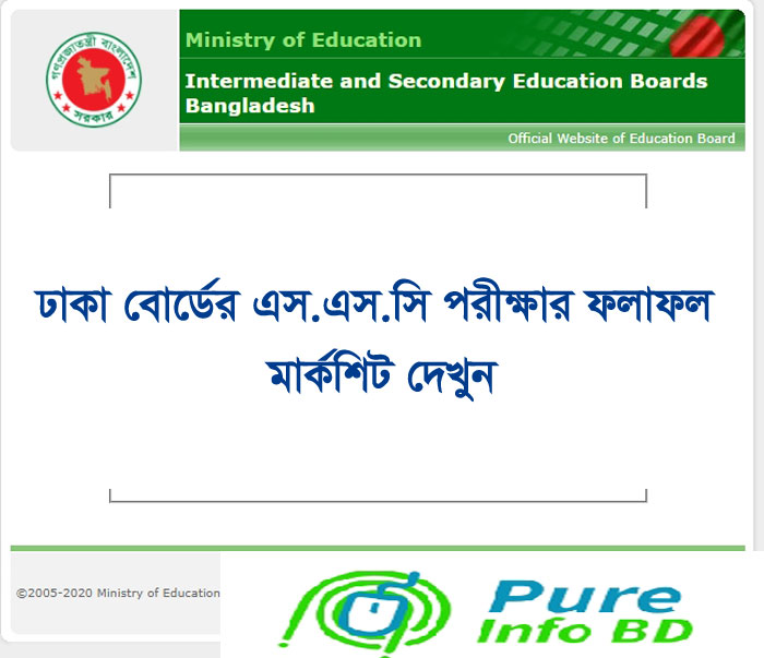 SSC Result 2021 Dhaka Board Marks Download