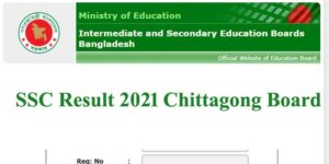 SSC Result 2021 Chittagong Board