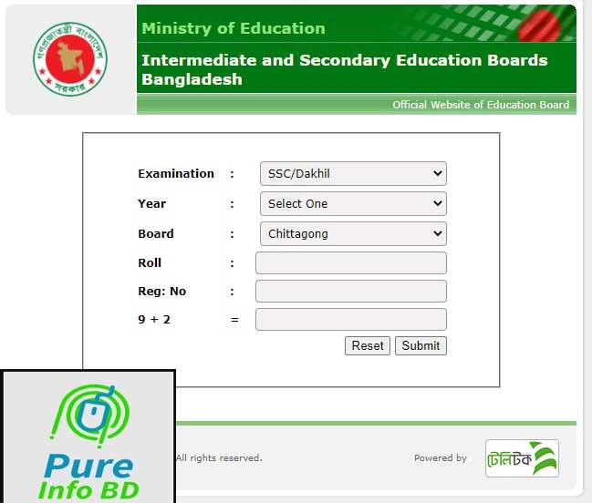 SSC Result 2021 Chittagong Board