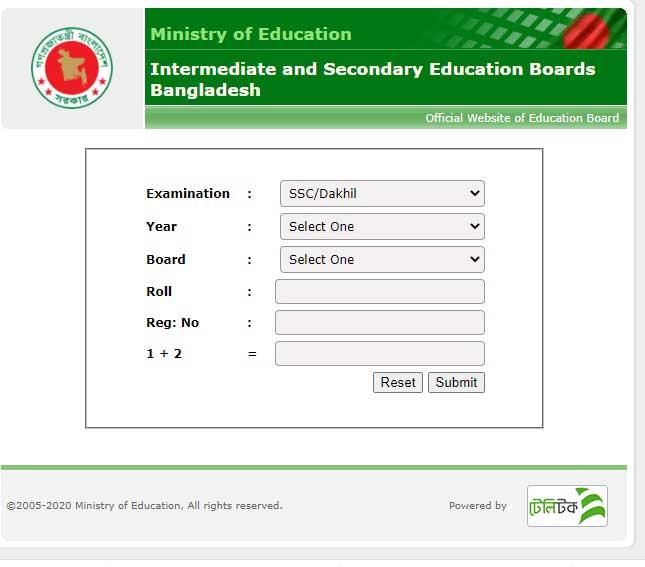 SSC Result 2021 Jessore Board