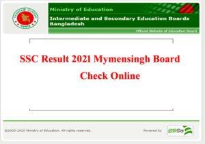SSC Result 2021 Mymensingh Board
